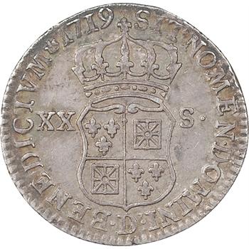 Louis XV, XX sols, 1719, Lyon