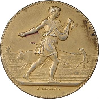 LAGRANGE, Médaille en vermeil représentant un semeur