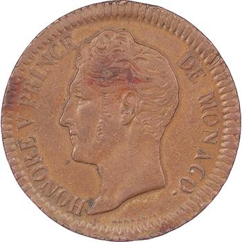 Monaco, Honoré V, 1838, Monaco