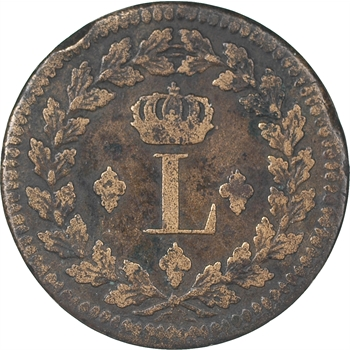 Louis XVIII, décime, 1814, Strasbourg