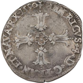 Henri IV, quart d'écu, 1590, Bayonne