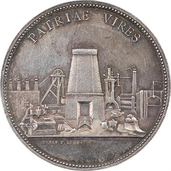 PENIN F LUGD, médaille en argent des fonderies et forges de l'Horme