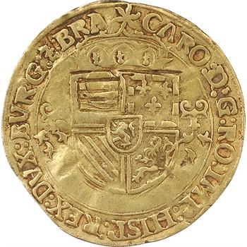 Pays-Bas (Brabant), Charles-Quint, Couronne d'or au soleil, 1543, Anvers (Del 102)