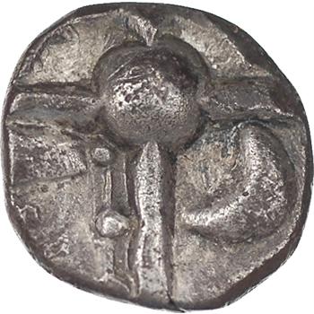 Celtes, Sotiates, drachme trilobée aux gros globules