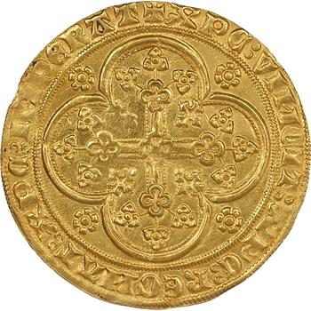 Comté de Flandre, Louis de Male, écu d'or à la chaise et au lion