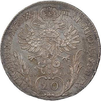 Autriche, Marie-Thérèse, 20 kreuzer, 1778