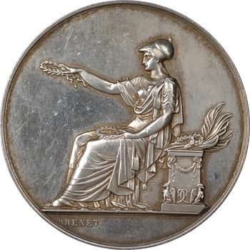BRENET, médaille en argent de l'exposition géographique de Toulouse en 1884 – 7 ème congrès de géographie