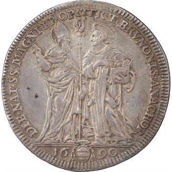 Vatican, Alexandre VIII, teston, 1690, Rome