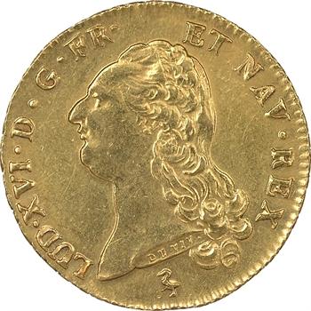 Louis XVI, double louis d'or à la tête nue, 1786, Paris